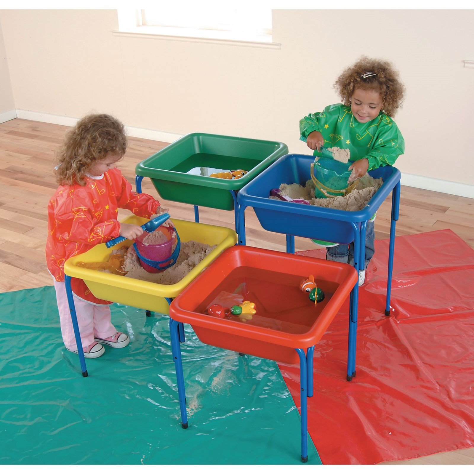 Adjustable Sand and Water Table Tub - Blue