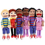 Giant Ethnic Hand Puppets - Pack of 6