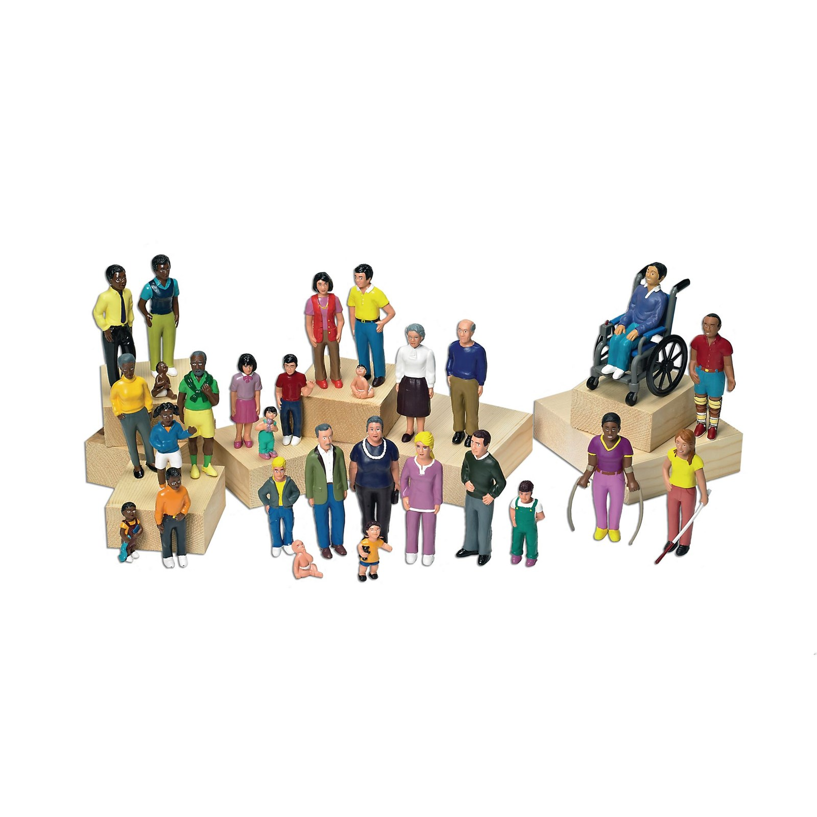 Lakeshore Learning Block Play People - Family with Brown Skin