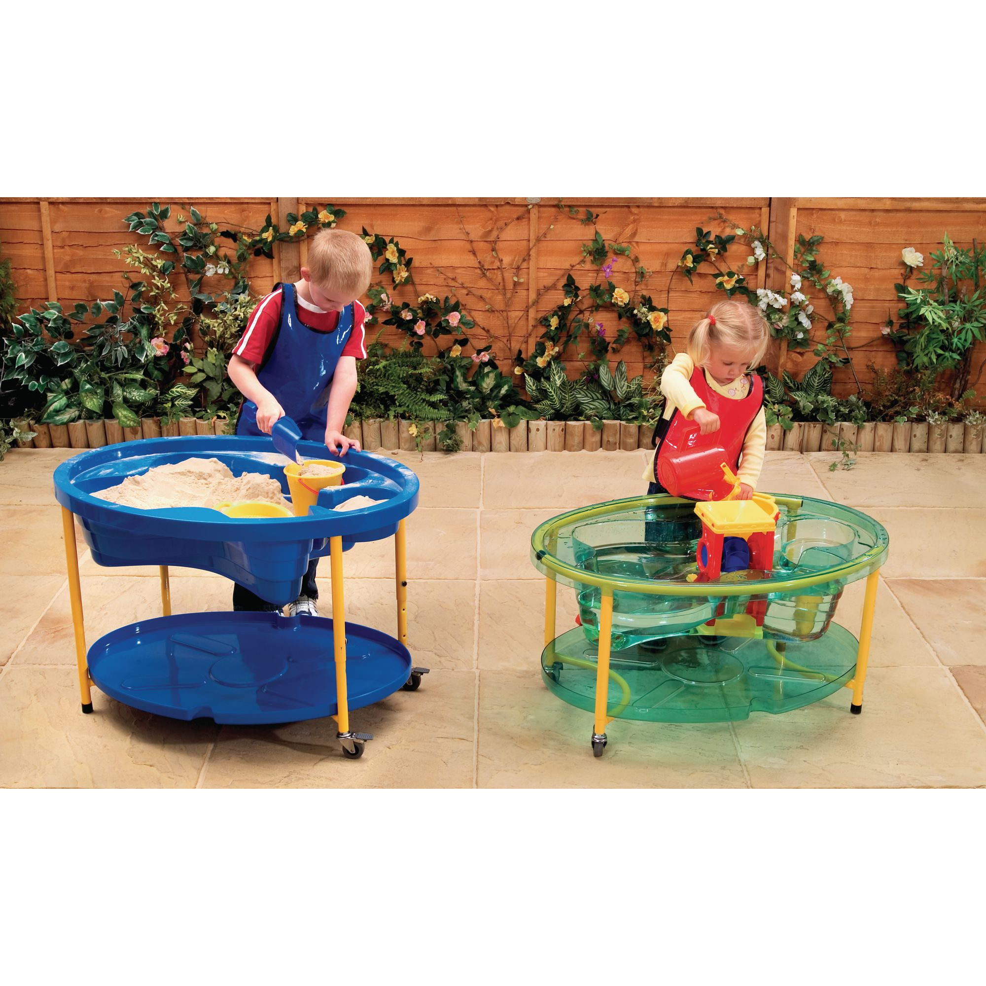 Bon Adjustable Sand And Water Play Tables   Blue