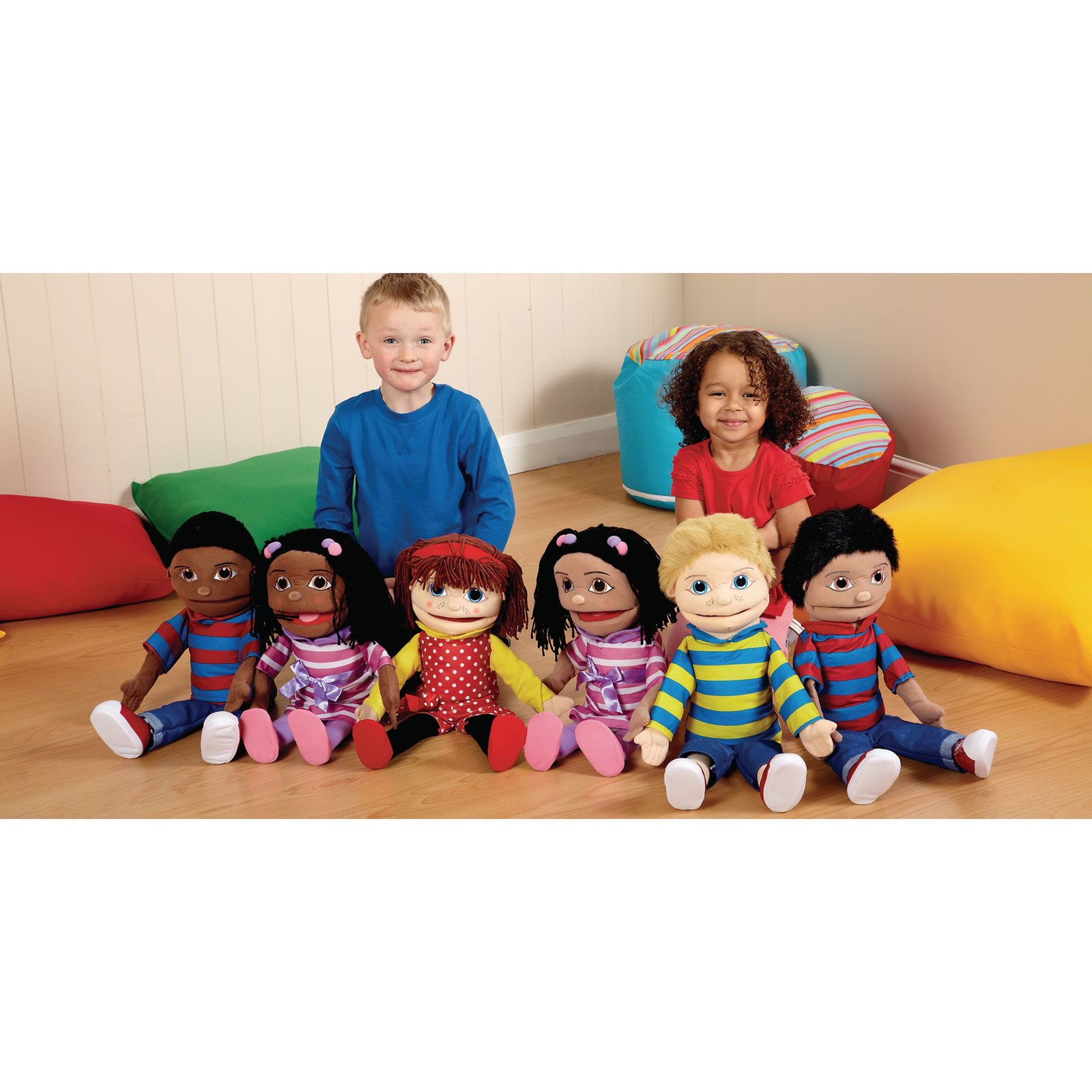 Giant Multicultural Hand Puppets - Brown Girl
