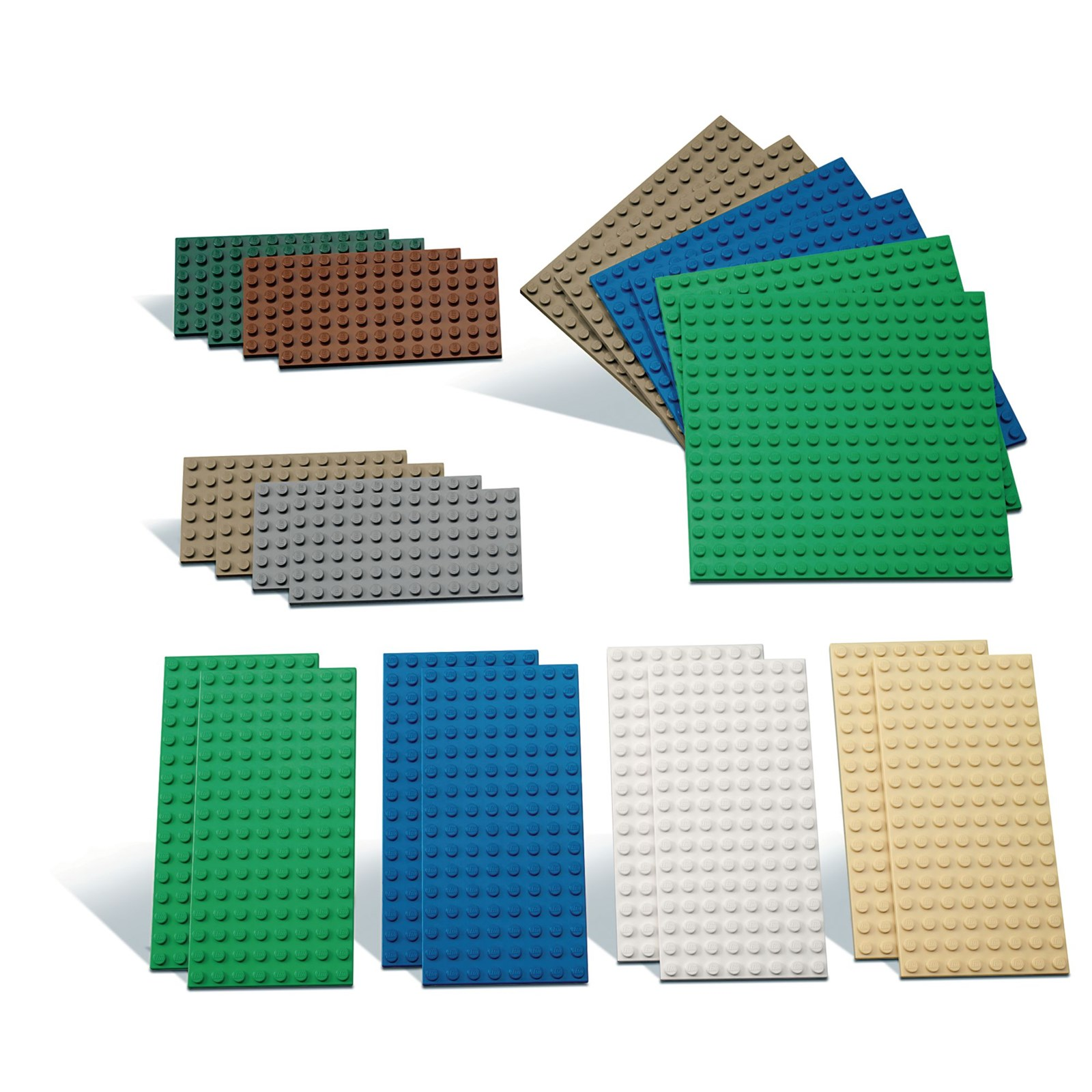 Small Building Plates by LEGO® Education - Pack of 22