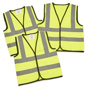 Children's High Visibility Waistcoat 4 - 6 Years - Pack of 3