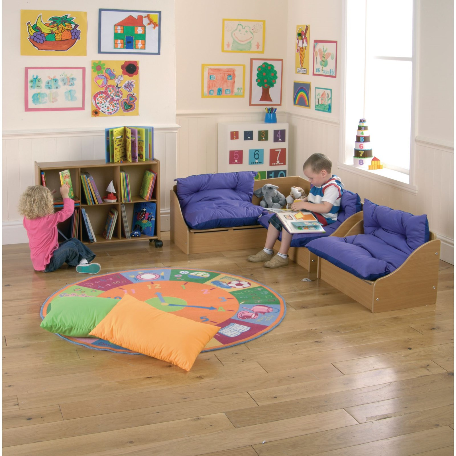 Infant 2 Seater Sofa with Cushion