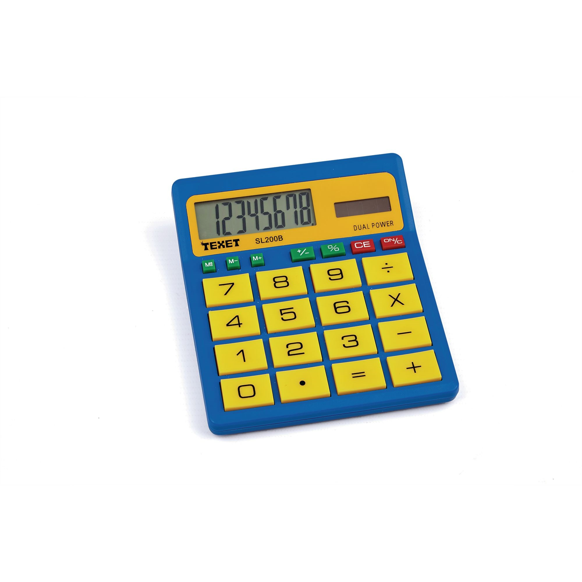 Blue/ Yellow Coloured Calc Pk10