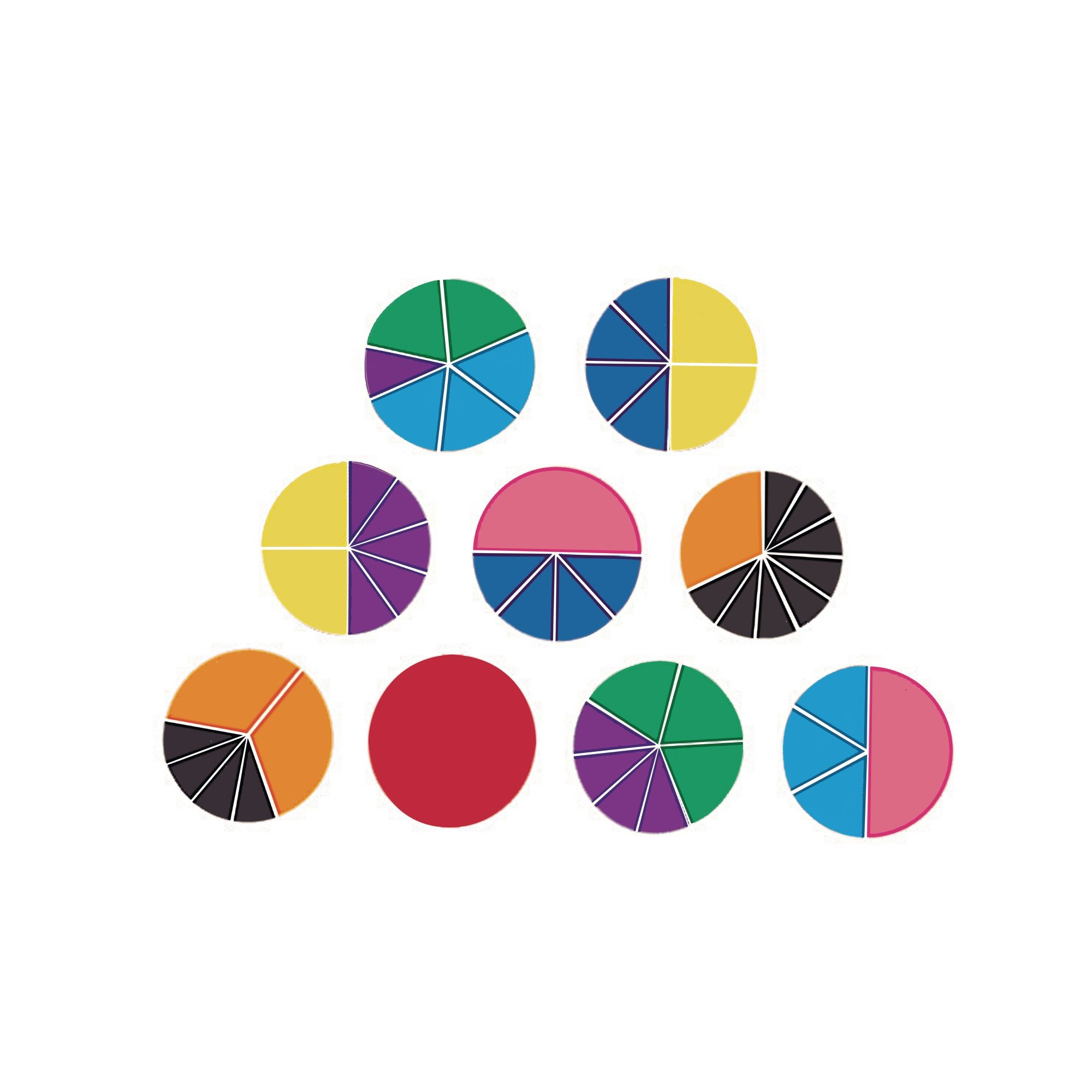 Rainbow Fraction Circles