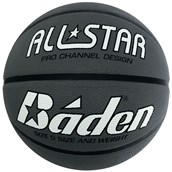 Báden® All Star Basketball - Silver/Black - Size 5 - Pack of 10