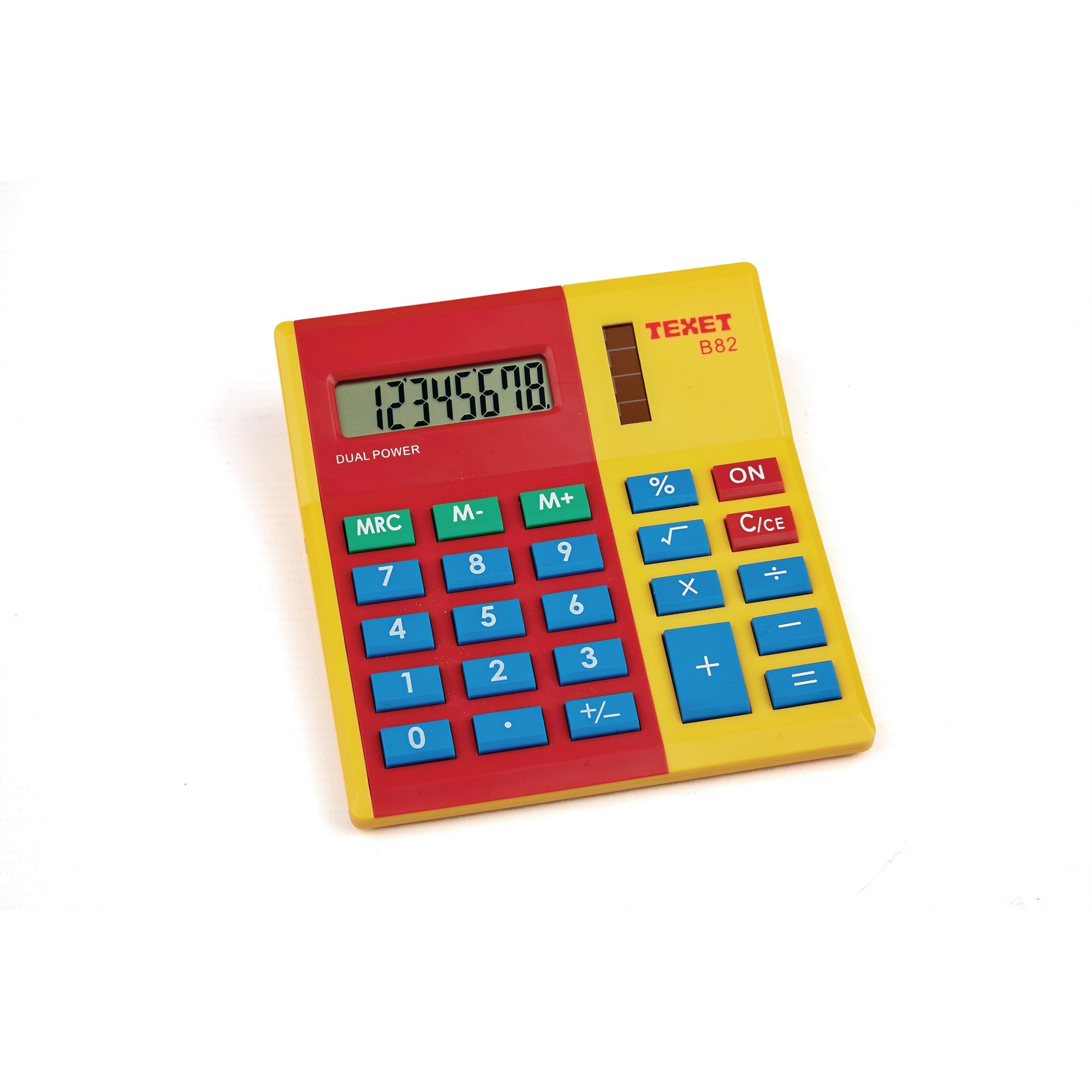 Red/ Yellow Coloured Calculator