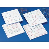 11 x 11 Double-Sided Geoboard - Pack 5
