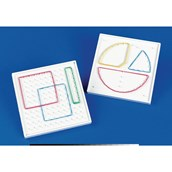 10 x 10 Double-Sided Geoboard - Pack 5