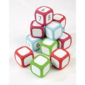 Pupil Whiteboard Dice - Pack 12