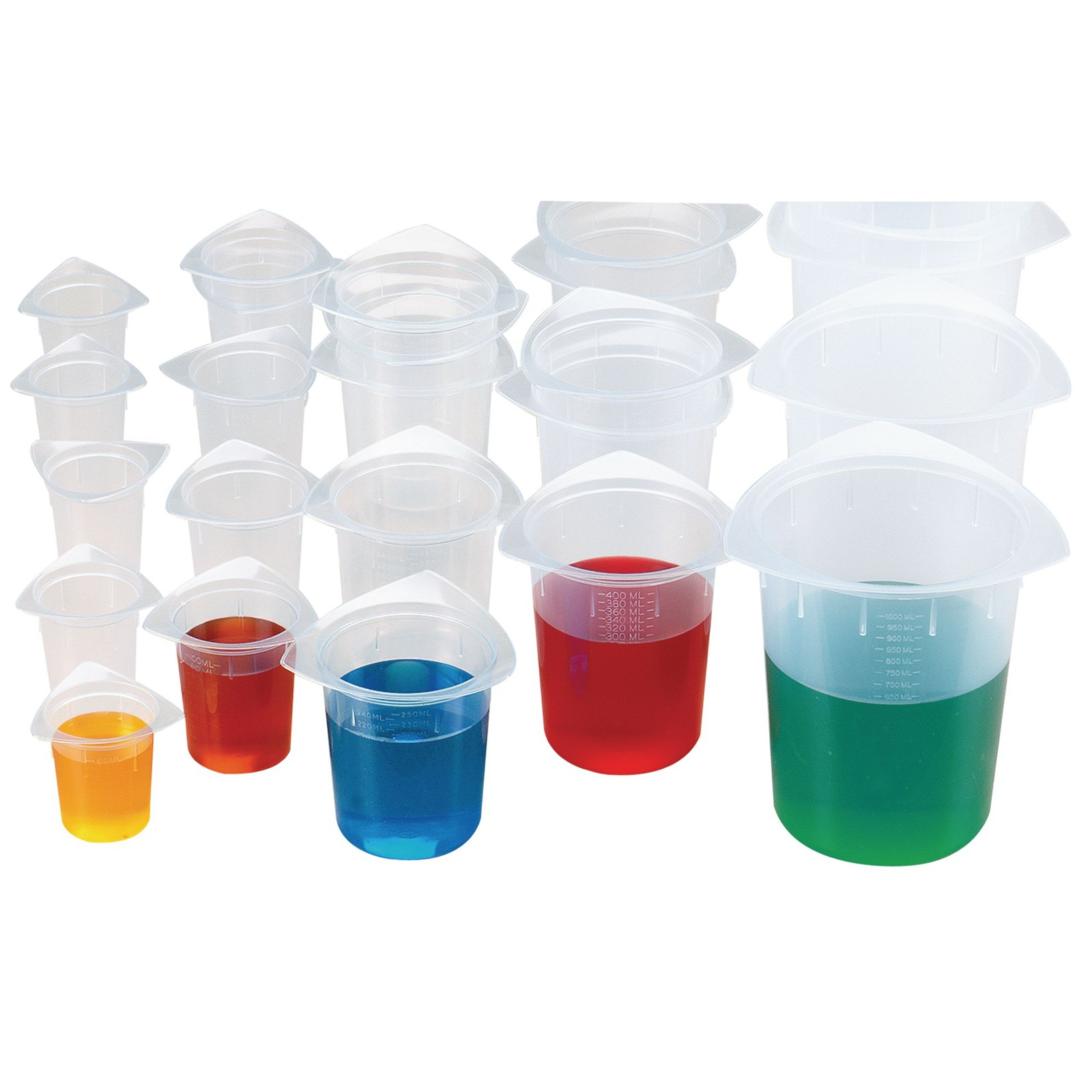 Assorted Tri-Pour Beakers - Assorted