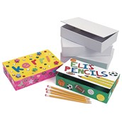 White Cardboard Pencil Boxes Pack of 36