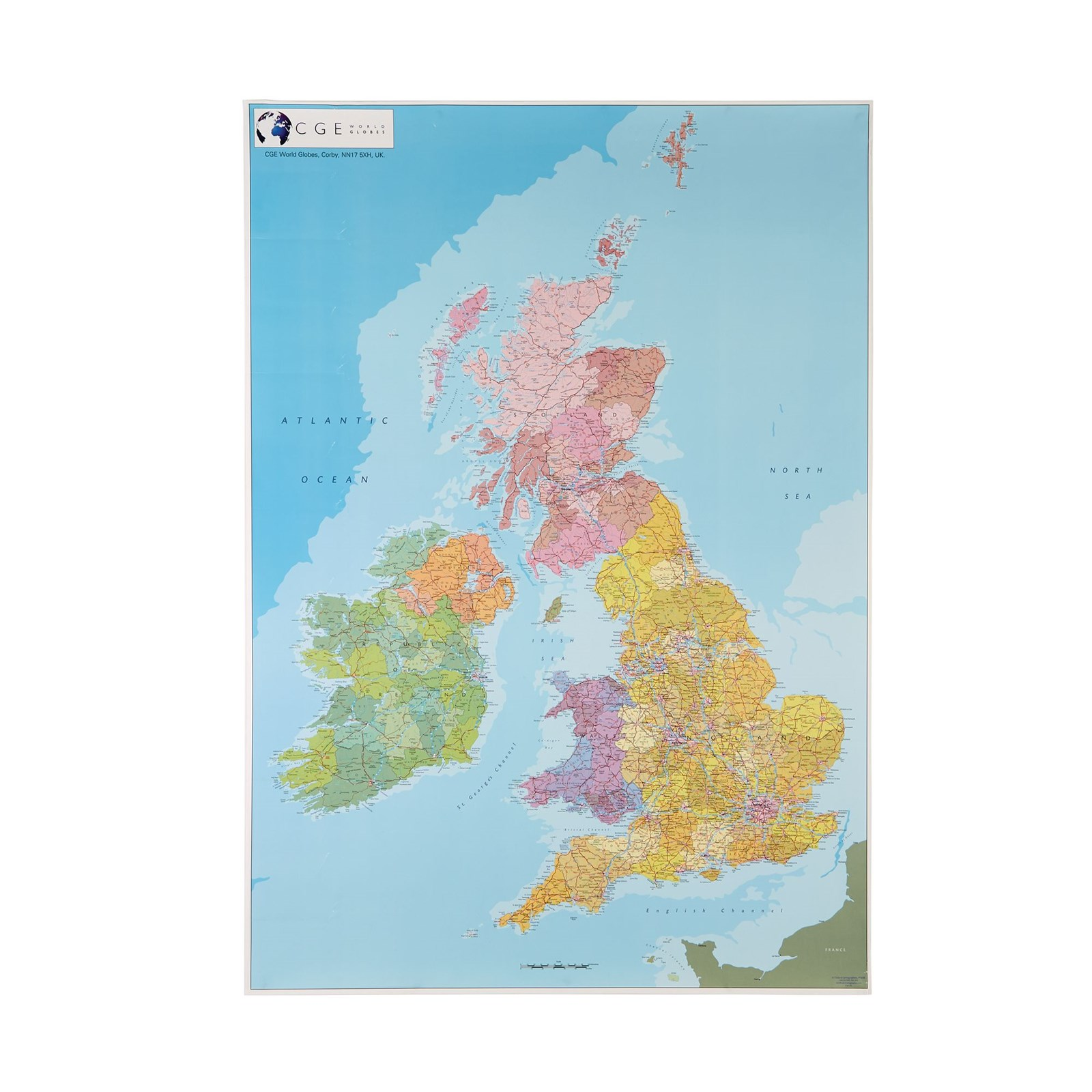 Political Map Of Uk.Political Map Of The British Isles Pack 5 Philip Harris