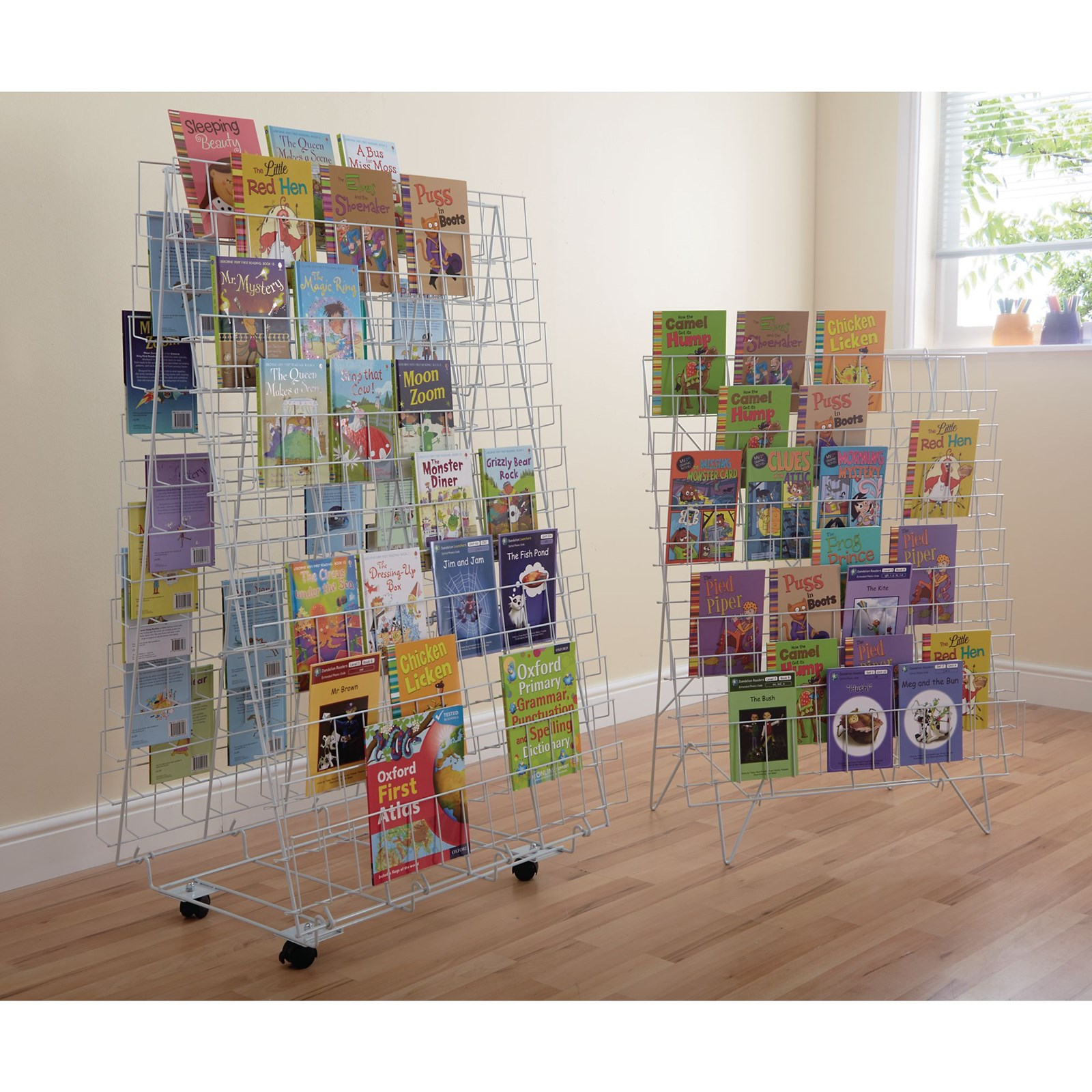 Double-Sided Book Rack