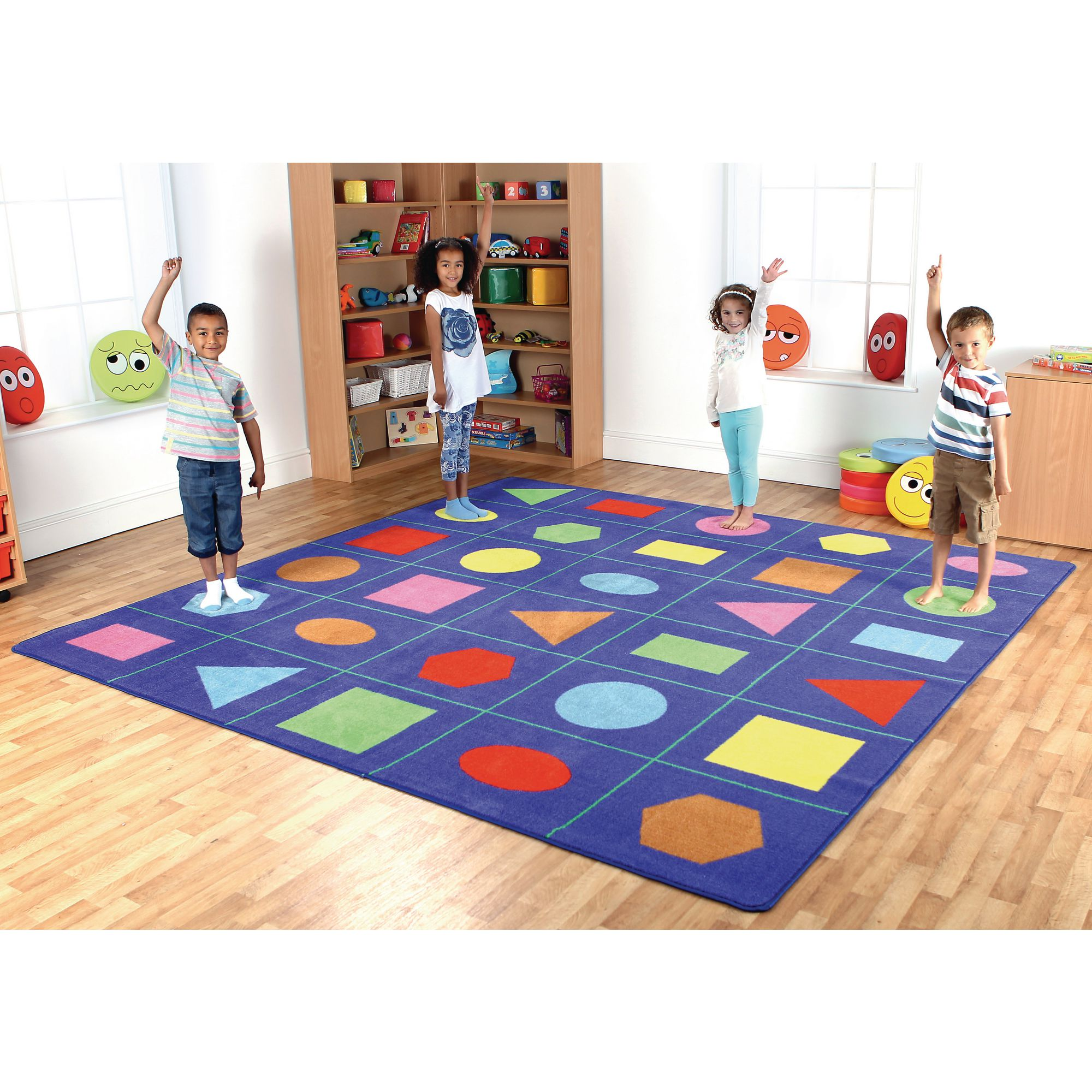 Geometric Shapes Placement Mat
