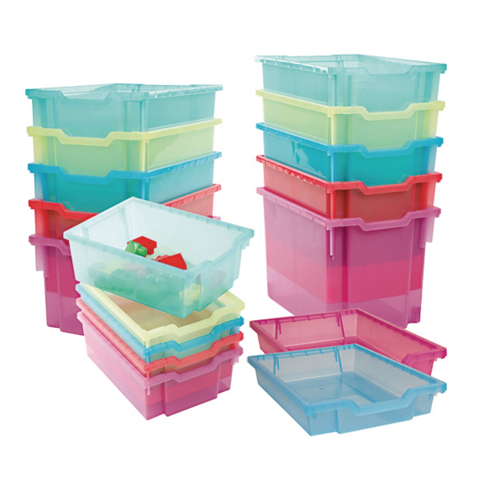 Gratnells Jumbo Jelly Storage Tray - Kiwi Jelly