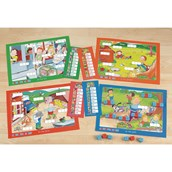 """CVC Word Building Mats Set 2 """"Out and About"""""""
