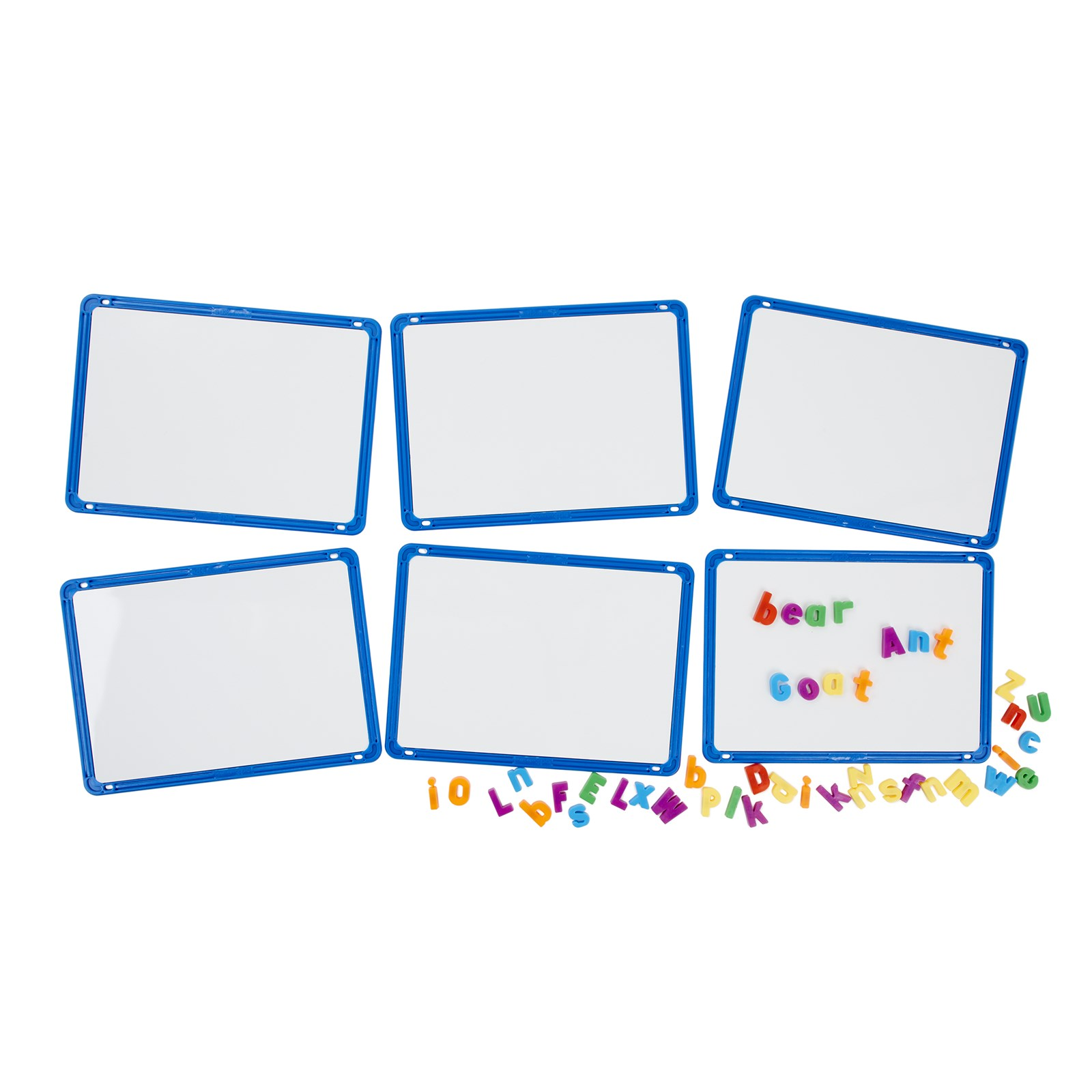 Magnetic Dry-wipe Boards - Pack of 6