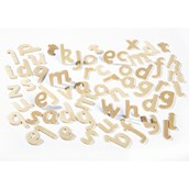 Plain Wood Lowercase Letters - Pack of 60