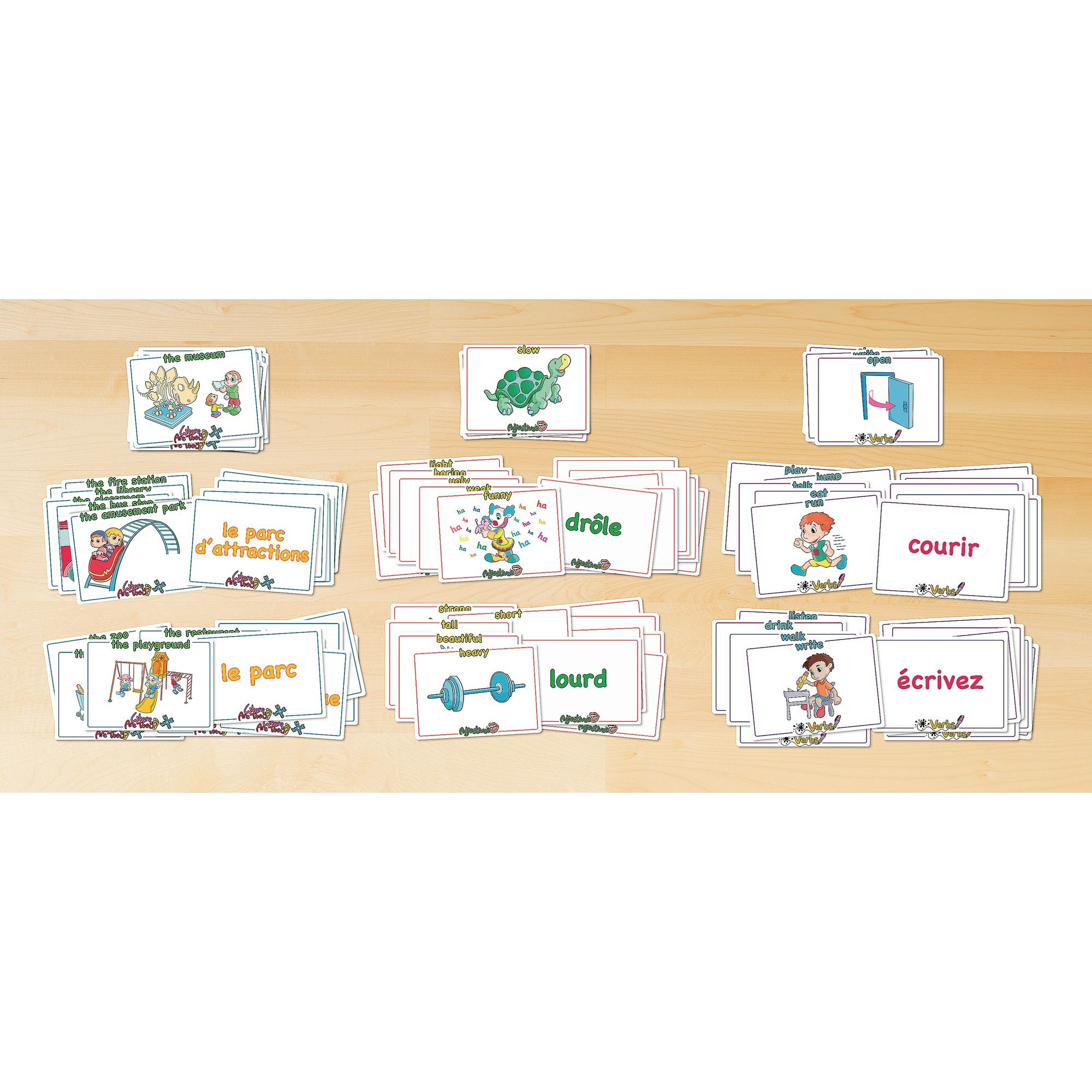 Word Recognition Flashcards French