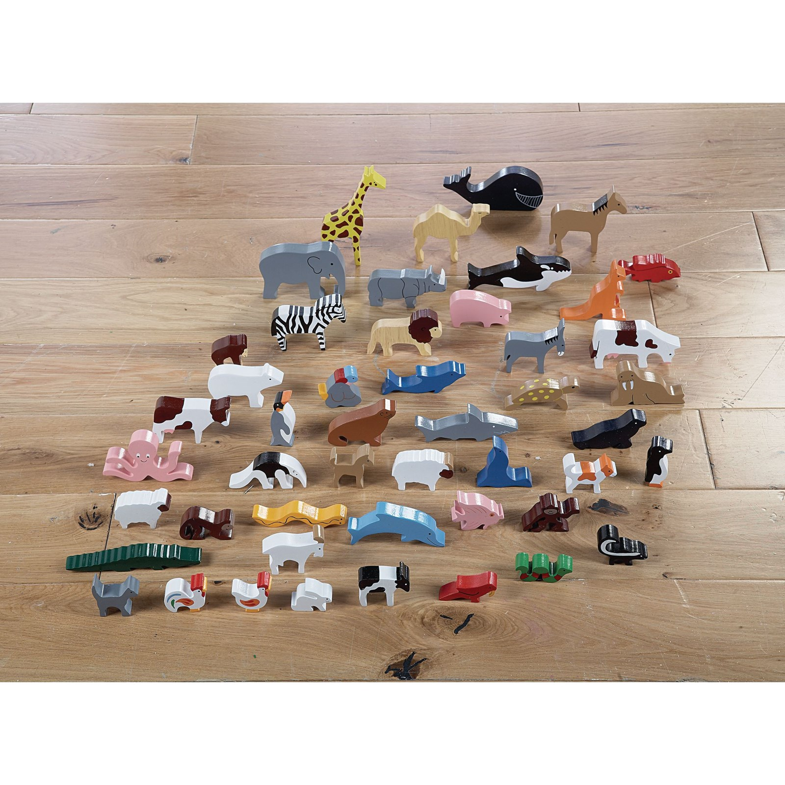 Wooden Animals - Pack of 48